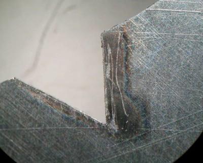 Laserschnitt in CVD-Diamant